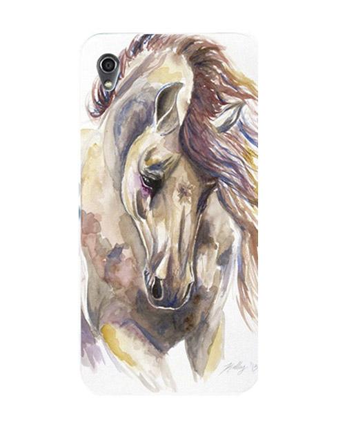 caballo acuarella