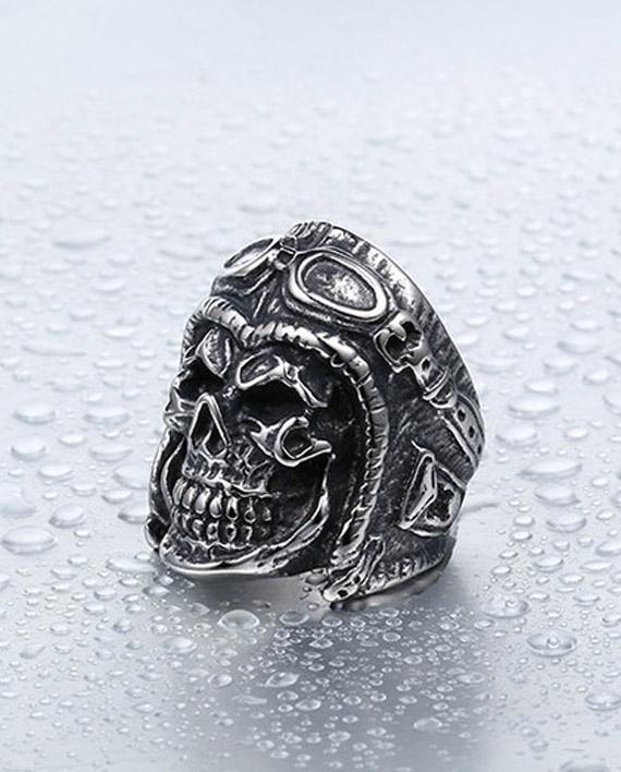 Calavera aveadora anillo 2